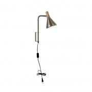 Arandela Casual Light Quality QAR1457AE Horn 1L G9  40W 380x450x400mm Aço Escovado