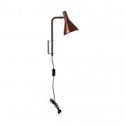 Arandela Casual Light Quality QAR1457CO Horn 1L G9  40W 380x450x400mm Cobre