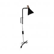 Arandela Casual Light Quality QAR1457PT Horn 1L G9  40W 380x450x400mm Preto