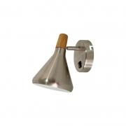 Arandela Casual Light Quality QAR1466AE Horn 1L G9  40W 210x410x320mm Aço Escovado