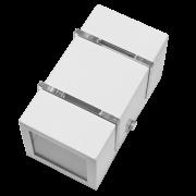 Arandela Incolustre 502.22 2 Friso 1L G9 150x80x80mm Ferrugem