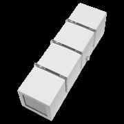 Arandela Incolustre 502.29 Friso Gde 3L G9 305x80x80mm Branco