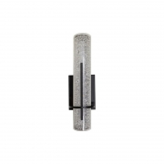 Arandela LED Starlux WBK31208A-8W Lorena 8W 2700K Bivolt 100x100x310mm - Preto