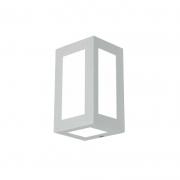 Arandela Usina 5041/1 Retangular Lírios 05 Vidros 1L E27 200x120x100mm