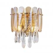 Arandela Sindora DCB00254 Cristal 2L E14 Ø330x270mm - Dourado/Transparente