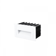 Balizador de Embutir Nordecor 2021/N Linder LED 3W 3000K 320lm Bivolt 57x100x50mm Branco