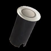 Balizador LED Romalux 10107 Solo Inox Plus 1,8W 2700K IP66 Bivolt Ø50x82mm Inox