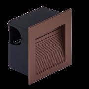 Balizador Embutir LED Save Energy SE-355.1896 1,5W 3000K 60G IP65 Bivolt 80x80x44mm - Cobre