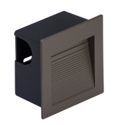 Balizador Embutir LED Save Energy SE-355.1898 1,5W 3000K 60G IP65 Bivolt 80x80x44mm - Chumbo