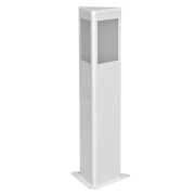 Balizador Incolustre 552.04 Square 1L E27 700x185x160mm Preto