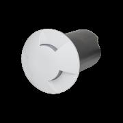 Balizador LED Romalux 10038 3 Fachos 0,7W 2700K IP66 Bivolt Ø60X92,5MM Branco