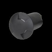 Balizador LED Romalux 10042 3 Fachos 0,7W 2700K IP66 Bivolt Ø60X92,5MM Preto