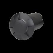 Balizador LED Romalux 10043 4 Fachos 0,7W 2700K IP66 Bivolt Ø60X92,5MM Preto