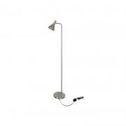 Coluna Casual Light Quality QCL1467AE Horn 1L E27  40W Ø120x1400mm Aço Escovado