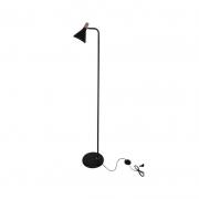 Coluna Casual Light Quality QCL1467PT Horn 1L E27  40W Ø120x1400mm Preto
