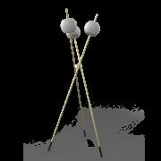 Coluna Starlux CO-LD31098-3 Apple C/ Globo Leitoso Fechado 3L G9 Ø480x1500mm - Brass