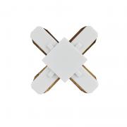Conector X Para Trilho Eletrificado Furlight FL3012 Branco