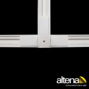 """Conexão """"T"""" para Trilho Eletrificado Altena TRA00006 Altrac"""