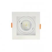 Spot de Embutir Nordecor 6193/N Flea 1L PAR30 170x170x170mm Bivolt Branco