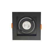 Spot de Embutir Nordecor 6194/N Flea 1L PAR30 170x170x170mm Bivolt Preto