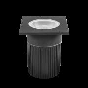 Embutido De Solo LED Stella STH7708/30 Focco Quadrado 10W 3000K IP67 30G Bivolt - Preto