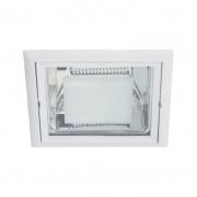 Embutido Quadrado Biancoluce AS31-80-9 2L E27 Bivolt 230x230mm Branco