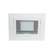 Embutido Quadrado Biancoluce HNS31.40.9 1L E27 Bivolt 140x140mm Branco