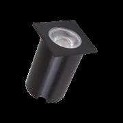 Embutido Solo LED Romalux 10073 4,5W 2700K IP66 Bivolt 60x60x56mm Preto