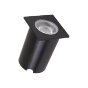 Embutido Solo LED Romalux 10074 8W 2700K IP66 Bivolt 60x60x56mm Preto