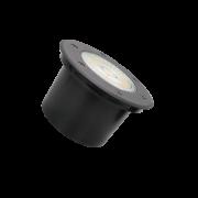 Embutido Solo LED Romalux 10120 12° 18W 2700K IP66 Bivolt Ø150x72mm Preto