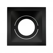 Spot Embutido Stella STH8950PTO Square Ghost PAR20 E27 - Preto