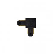 "Ementa de Trilho/Spot Eletrificado ""L"" Nordecor 65x49mm 6071/N Preto"