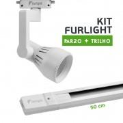 Kit Furlight Trilho 50cm com 1 Spot PAR20 Branco