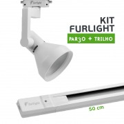 Kit Furlight Trilho 50cm com 1 Spot PAR30 Branco