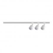 Kit Trilho Eletrificado e Spot Blumenau 341560-04-OUTLET 3 Spots ABS 3x5W 6500K Ø59x107x980mm Branco