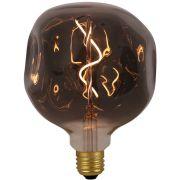Lâmpada LED Brilia 303980 Assimétrica Black G125 2W Âmbar E27 330G IP20 Bivolt