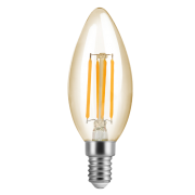 Lâmpada LED Save Energy SE-345.1383 Vela FIlamento Vintage E14 4W 2200K 360G IP20 127V