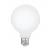 Lâmpada LED Save Energy SE-375.2333 G125 Milky E27 8W 2400K 600lm Bivolt