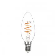 Lâmpada Led Stella STH8384/24 Vela Lisa Filamento Espiral E14 2,5W 2400K 300G 220V