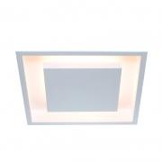 Luminária de Embutir Itamonte 2041/30E27-BT-CO Eclipse 2L E27 A60 LED 300x300x75mm Branco Texturizado e Cobre