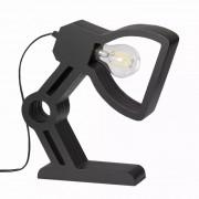 Luminária de Mesa Carambola APX Pix 1L E27 Bivolt 280x270x60mm Preto