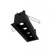 Luminária Embutir LED Newline EM0421LED3 Fit40 4W 3000K 4 Fachos 10º Bivolt 125x52x70mm