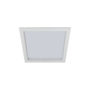 Luminária Embutir LED Romalux 80051 Recuada 21W 3000K IP20 Bivolt 300x300x55mm Branco