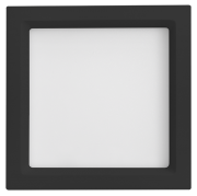 Luminária Embutir LED Save Energy SE-240.1660 Jet Black Recuada 12W 3000K Bivolt 170x170mm Preto