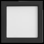 Luminária Embutir LED Save Energy SE-240.1662 Jet Black Recuada 12W 5700K Bivolt 170x170mm Preto