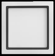 Luminária Embutir LED Save Energy SE-240.1681 Recuada 36W 3000K Bivolt 400x400mm Branco/Preto