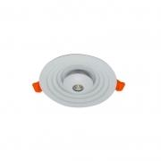 Luminária Embutir LED Starlux EB-003WM Thor 15+7W 2700K 1980lm Ø225mm - Branco