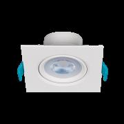 Luminária Embutir LED Stella STH7915/30 Easy Quadrado MR16 4,5W 3000K Bivolt 95x95x45mm - Branco