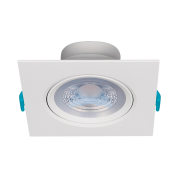 Luminária Embutir LED Stella STH7920/30 Easy Quadrado PAR20 7W 3000K Bivolt 117x117x52mm - Branco