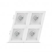Luminária Embutir Save Energy SE-330.2068 Recuado Linked 4L Dicróica 200x200x35mm - Branco